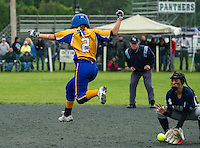NHIAA Division III softball state championships Franklin versus White Mountain.    (Karen Bobotas/for the Laconia Daily Sun)