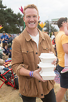Greg Rutherford at the Big Feastival 2021 on Alex James Cotswolds farm, Kingham oxfordshire