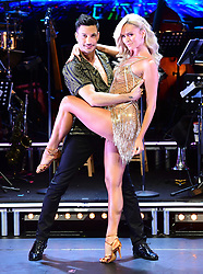 Nadiya Bychkova (left) and Giovanni Pernice (right) attending the Strictly Come Dancing Professionals UK Tour at Elstree Studios, London.