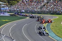 March 17, 2019 - Melbourne, Australia - Motorsports: FIA Formula One World Championship 2019, Grand Prix of Australia, .. Start, #77 Valtteri Bottas (FIN, Mercedes AMG Petronas Motorsport), #44 Lewis Hamilton (GBR, Mercedes AMG Petronas Motorsport), #5 Sebastian Vettel (GER, Scuderia Ferrari Mission Winnow), #16 Charles Leclerc (MCO, Scuderia Ferrari Mission Winnow), #33 Max Verstappen (NLD, Aston Martin Red Bull Racing), #20 Kevin Magnussen (DEN, Rich Energy Haas F1 Team) (Credit Image: © Hoch Zwei via ZUMA Wire)