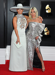 61st Annual Grammy Awards held at Staples Center on February 10, 2019 in Los Angeles, CA. 10 Feb 2019 Pictured: Jennifer Lopez and Lady Gaga. Photo credit: MEGA TheMegaAgency.com +1 888 505 6342