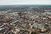 Nederland, Brabant, Helmond, 15-11-2010. Overzicht van het centrum van de stad..luchtfoto (toeslag), aerial photo (additional fee required).foto/photo Siebe Swart