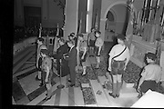20/01/1963<br /> 01/20/1963<br /> 20 January 1963<br /> CBSI Investiture at Merchants Quay, Dublin. Investiture of 52 Scouts and 30 Macoimh, and presentation of 4 commissions to Scout Masters at the Franciscan Church.