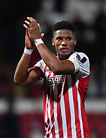 Football - 2018 / 2019 Emirates FA Cup - Fourth Round, Replay: Brentford vs. Barnet<br /> <br /> Brentford's Julian Jeanvier salutes the fans after their 3-1 victory, at Griffin Park.<br /> <br /> COLORSPORT/ASHLEY WESTERN