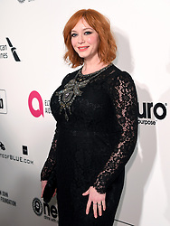 Christina Hendricks attending the Elton John AIDS Foundation Viewing Party held at West Hollywood Park, Los Angeles, California, USA.