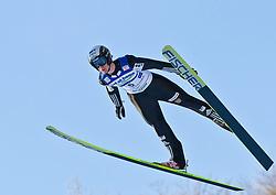 05.02.2011, Heini Klopfer Skiflugschanze, Oberstdorf, GER, FIS World Cup, Ski Jumping, Probedurchgang, im Bild Lukas Hlava (CZE) , during ski jump at the ski jumping world cup Trail round in Oberstdorf, Germany on 05/02/2011, EXPA Pictures © 2011, PhotoCredit: EXPA/ P. Rinderer