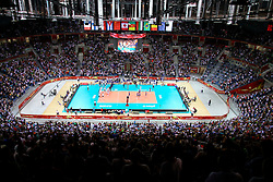 07.09.2014, Krakow Arena, Krakau, POL, FIVB WM, Italien vs USA, Gruppe D, im Bild wypelniona widzami hala Krakow Arena, komplet widzow w Krakowie // during the FIVB Volleyball Men's World Championships Pool D Match beween Italy and USA at the Krakow Arena in Krakau, Poland on 2014/09/07<br /> <br /> ***NETHERLANDS ONLY***