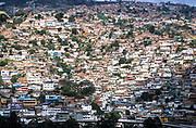 A poor hillside slumb in Caracas city, Venezuela