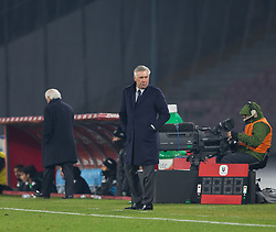 January 13, 2019 - Naples, Campania, Italy - Coach of SSC Napoli Carlo Ancelotti seen in action during the Serie A football match between SSC Napoli vs US Sassuolo at San Paolo Stadium. (Credit Image: © Ernesto Vicinanza/SOPA Images via ZUMA Wire)