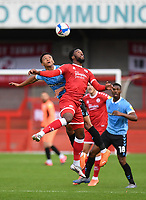 Football - 2020 / 2021 Sky Bet League Two - Crawley Town vs Southend United - The People's Pension Stadium.<br /> <br /> Crawley Town's Nathan Ferguson battles with Southend United's Nathan Ralph.<br /> <br /> COLORSPORT/ASHLEY WESTERN