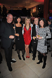 Left to right, DAVID GILMOUR, POLLY SAMSON, PENNY SMITH and IAN & VICTORIA HISLOP at the Costa Book Awards 2010 held at Quaglino's, 16 Bury Street, London on 25th January 2011.
