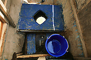 Toilet on a Niger River boat that dumps into the river in Mali.