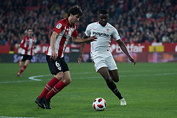 January 16, 2019 - Sevilla, Andalucia, Spain - Amadou of Sevilla FC and San Jose of Athletic Club competes for the ball during the Copa del Rey match between Sevilla FC v Athletic Club at the Ramon Sanchez Pizjuan Stadium on January 16, 2019 in Sevilla, Spain (Photo by Javier Montaño/Pacific Press) (Credit Image: © Javier MontañO/Pacific Press via ZUMA Wire)