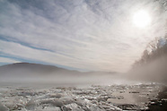 Hudson River Ice and Fog