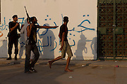 Sco0033837 .  Daily Telegraph..Rebels break up an argument in Tripoli. The vast majority of the city is now in the full control of the rebels...Tripoli 28 August 2011. ............Not Getty.Not Reuters.Not AP.Not Reuters.Not PA