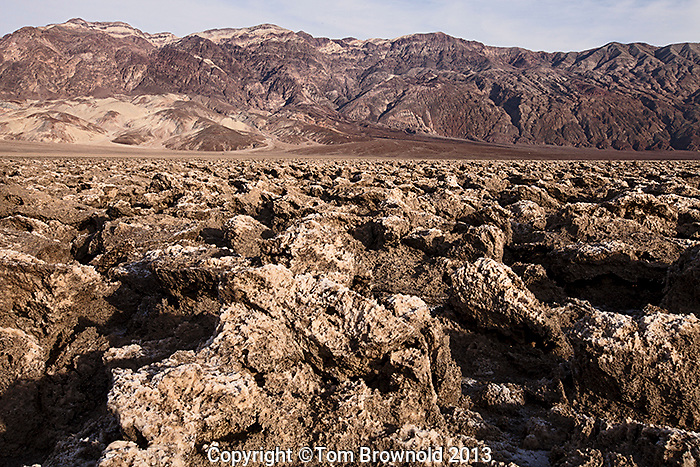 Ver Sharp, salt crystals and upheaval in the Devils golf course of Middle Basin in Death Valley, national Park. Salt Creek.