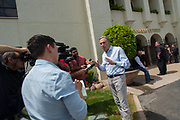 Howard Shultz founder of Starbucks speaks to the crowd during a tour of the country to announce his bid for the presidency of the U.S. on April 15, 2019 in Scottsdale, AZ.