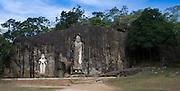 Buduruwagala Rock Sculptures.<br />  <br /> Buduruwagala is located about 4 miles (6.4 km) southeast of Wellawaya in Monaragala district, Sri Lanka