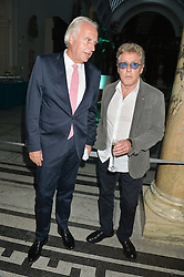 Left to right, MARTIN ROTH and ROGER DALTREY at a private view of You Say You Want A Revolution: Records and Rebels 1966-1970 at the V&A, London on 7th September 2016.