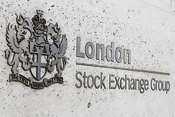 The London Stock Exchange at Paternoster Square in the city's financial district as European markets follow US and Asian markets lower on Tuesday as investors continued to dump shares. London, February 06 2018.