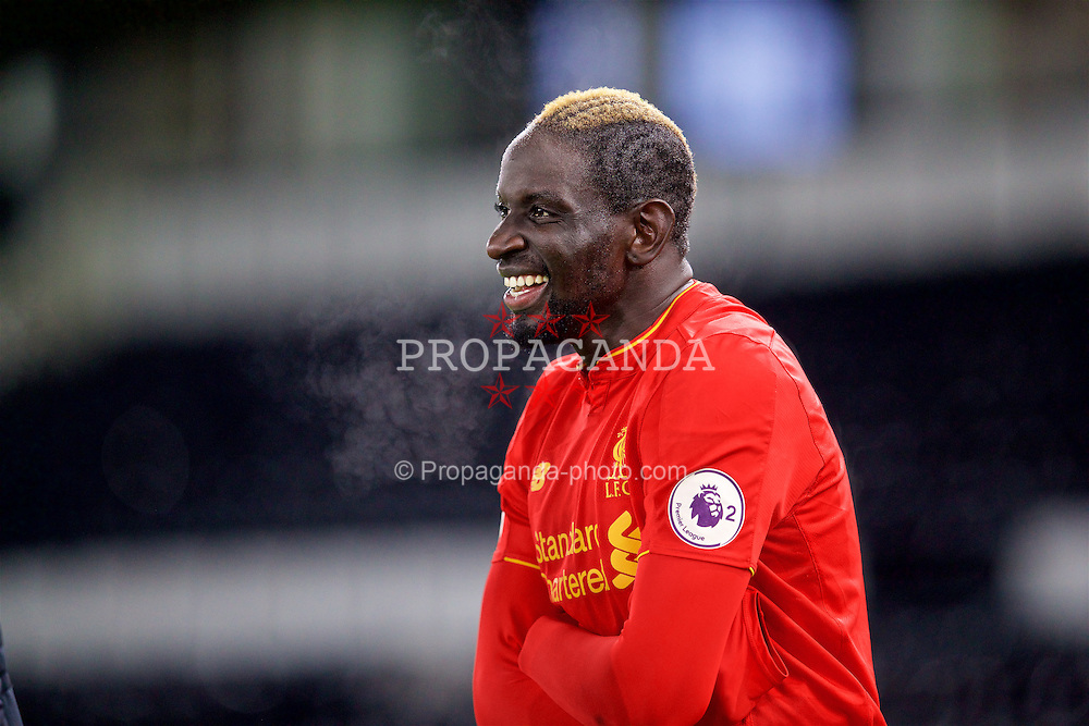 DERBY, ENGLAND - Monday, November 28, 2016: Liverpool's Mamadou Sakho after the goal-less draw with Derby County during the FA Premier League 2 Under-23 match at Pride Park. (Pic by David Rawcliffe/Propaganda)