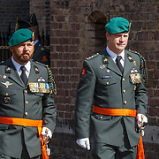 NLD/Den Haag/20180831 - Koninklijke Willems orde voor vlieger Roy de Ruiter, opkomst van Willems Orde dragers Marco Kroon en Gijs Tuinman
