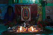 Altare dedicato alla vergine di Guadalupe.