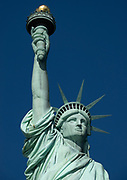 Close up of the Statue of Liberty in New York City