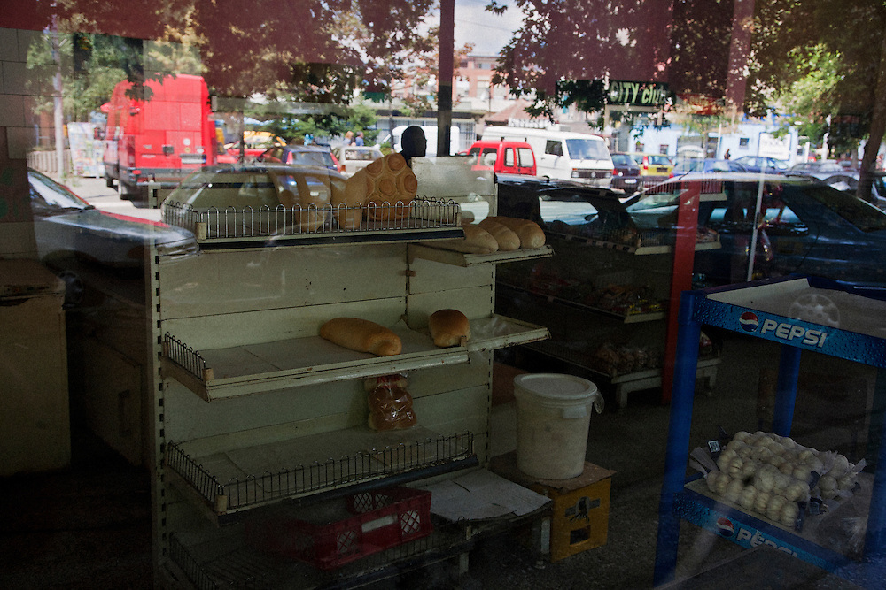 Store along main street of Kosovska Mitrovica during the border crisis...Border crisis, July 2011