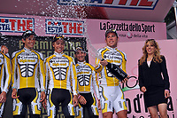 Sykkel<br /> Giro de Italia<br /> 09.05.2009<br /> Foto: Photonews/Digitalsport<br /> NORWAY ONLY<br /> <br /> MARK CAVENDISH AFTER STAGE ONE OF THE 2009 GIRO D'ITALIA<br /> Edvald Boasson Hagen