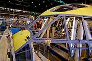 Pomigliano D'Arco (Napoli), 05.12.2007. Linea di produzione del C27J allo stabilimento Alenia Aeronautica.<br /> Foto: Víctor Sokolowicz