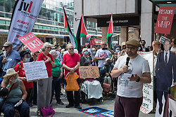 London, UK. 20th July, 2021. Andrew Feinstein, former African National Congress (ANC) MP, addresses supporters of left-wing Labour Party groups at a protest lobby outside the party's headquarters. The lobby was organised to coincide with a Labour Party National Executive Committee meeting during which it was asked to proscribe four organisations, Resist, Labour Against the Witchhunt, Labour In Exile and Socialist Appeal, members of which could then be automatically expelled from the Labour Party.