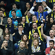 Fenerbahce Ulker's supporters during their Euroleague Top 16 week 3 game 3 basketball match Fenerbahce Ulker between Panathinaikos at Fenerbahce Ulker Sports Arena in Istanbul Turkey on Thursday 02 February 2012. Photo by TURKPIX
