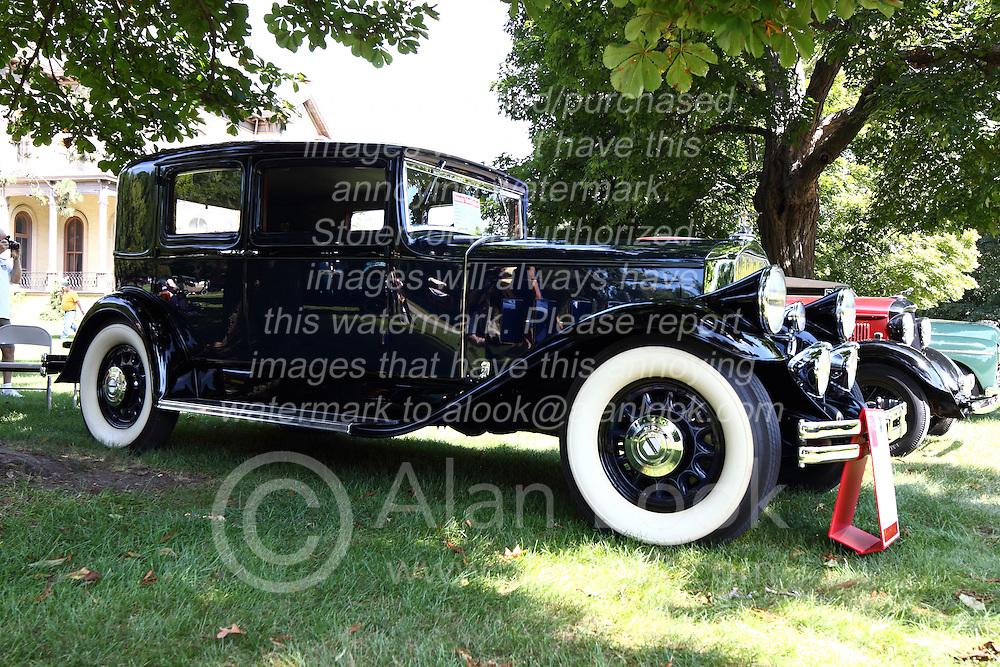 01 August 2015:  1931 Oierce Arrow 43 Club Sedan - Reggie & Janet Hankins.<br /> <br /> Displayed at the McLean County Antique Automobile Association Car show at David Davis Mansion in Bloomington Illinois