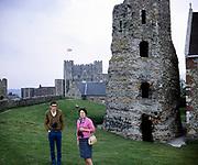 Dover castle, medieval castle in Dover, Kent, England in 1969
