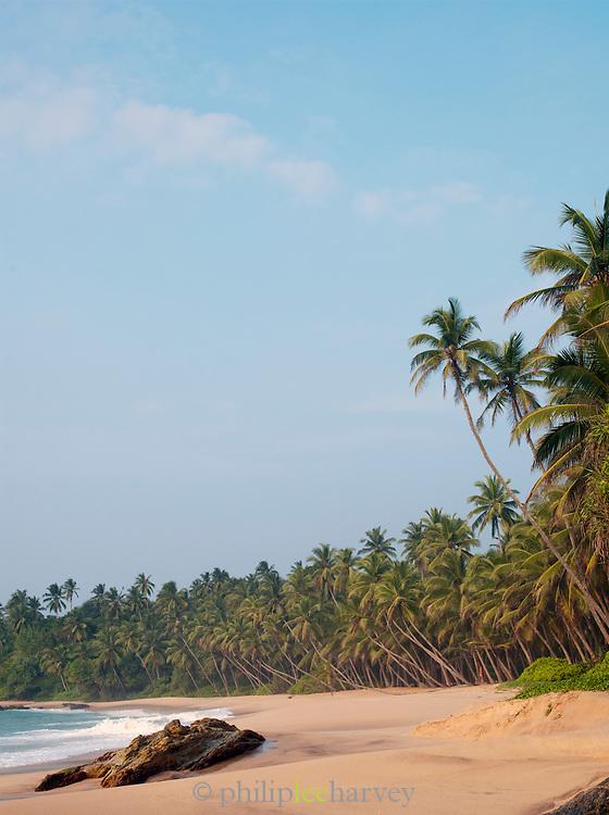 Sandy beach and coastline at Tangalle, Sri Lanka