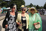 Racegoers at Ladies Day, Fontwell Park Racecourse, Arundel, United Kingdom on 13 August 2015. Photo by Ellie Hoad.