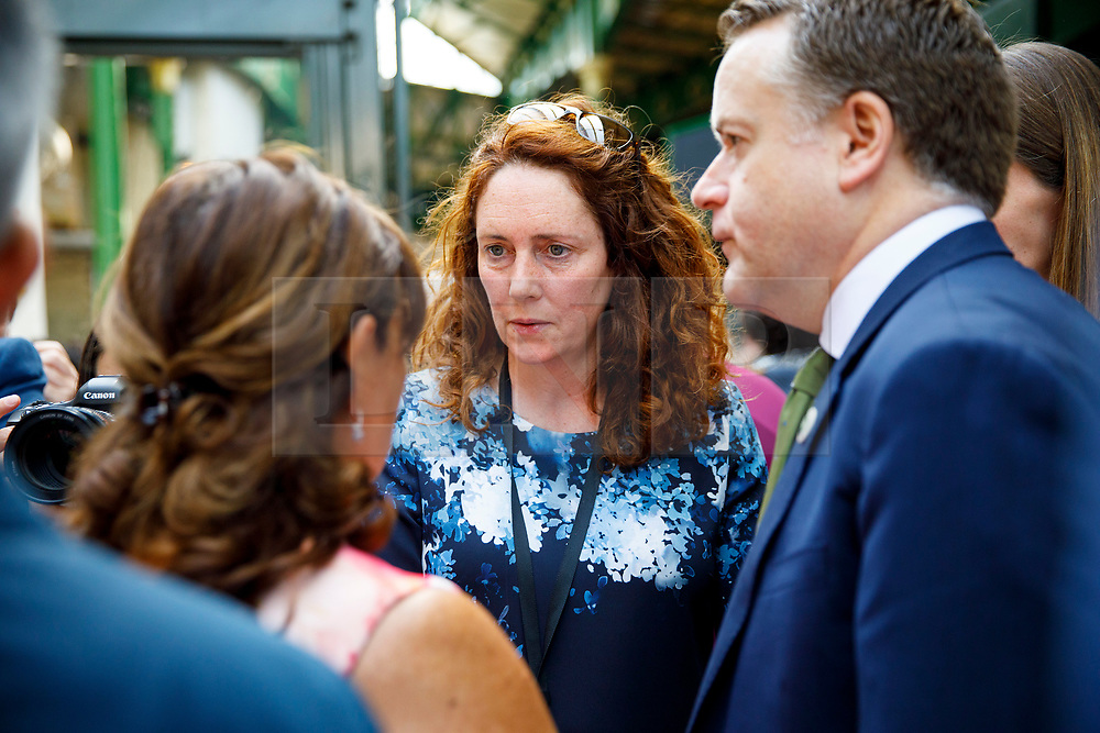 © Licensed to London News Pictures. 14/06/2017. London, UK. CEO of News Corp UK REBEKAH BROOKS attends the reopening of Borough Market in London as it reopens on 14 June 2017, following a terror attack that killed 8 people over a week ago. Photo credit: Tolga Akmen/LNP