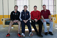 Fotball<br /> La Manga 2006<br /> 18.02.2006<br /> Foto: Morten Olsen, Digitalsport<br /> <br /> L-R: Ivar Morten Normark / Tromsø - Tom Prahl / Viking - Mons Ivar Mjelde / Brann - Arne Sandstø / Odd