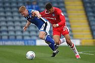 Callum Camps & Sean Clare during the EFL Sky Bet League 1 match between Rochdale and Gillingham at Spotland, Rochdale, England on 23 September 2017. Photo by Daniel Youngs.