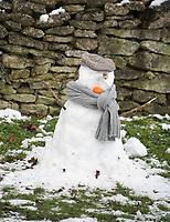 snowman  Stratton Audley Oxfordshire photo by Brian Jordan 24th jan 2021