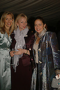 COUNTESS GUERINNI-MARALDI, COUNTESS OF DERBY AND COUNTESS DE HENDECOURT.Cartier dinner in the Chelsea Physic Garden. 22 May 2006. ONE TIME USE ONLY - DO NOT ARCHIVE  © Copyright Photograph by Dafydd Jones 66 Stockwell Park Rd. London SW9 0DA Tel 020 7733 0108 www.dafjones.com
