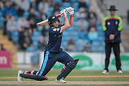 Joe Root (Yorkshire CCC) plays a cover drive during the Royal London 1 Day Cup match between Yorkshire County Cricket Club and Durham County Cricket Club at Headingley Stadium, Headingley, United Kingdom on 3 May 2017. Photo by Mark P Doherty.
