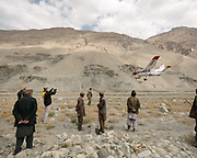 Arrival from Kabul, by propeller plane, of Mr Rupani, director of the Rupani foundation, coming on a visit for the official opening of an itinerant school. The life of the Wakhi people, in the Wakhan corridor, amongst the Pamir mountains. Trekking with Paul Salopek.