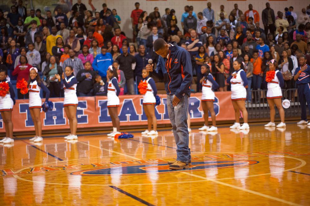 Feb 18, 2012; Morrow, GA, USA; Clayton State mens basketball team against Columbus State at CSU. (Photo by Kevin Liles/kdlphoto.com)