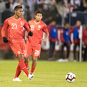 EAST HARTFORD, CONNECTICUT- October 16th:   Pedro Aquino #23 of Peru in action during the United States Vs Peru International Friendly soccer match at Pratt & Whitney Stadium, Rentschler Field on October 16th 2018 in East Hartford, Connecticut. (Photo by Tim Clayton/Corbis via Getty Images)