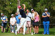 Matt Wallace (ENG) on the 4th tee during Round 2 of the Omega Dubai Desert Classic, Emirates Golf Club, Dubai,  United Arab Emirates. 25/01/2019<br /> Picture: Golffile | Thos Caffrey<br /> <br /> <br /> All photo usage must carry mandatory copyright credit (© Golffile | Thos Caffrey)