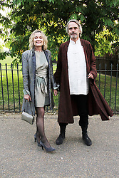 © London News Pictures. 26/06/2013. London, UK. Sinead Cusack and Jeremy Irons at  The Serpentine Gallery summer party, Kensington Gardens London UK, 26 June 2013, Photo credit: Richard Goldschmidt/LNP