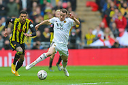 Wolverhampton Wanderers midfielder Diogo Jota (18) during the The FA Cup semi-final match between Watford and Wolverhampton Wanderers at Wembley Stadium, London, England on 7 April 2019.