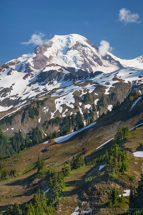 Mount Baker seen from Skyline Divide. Mount Baker Wilderness North Cascades Washington